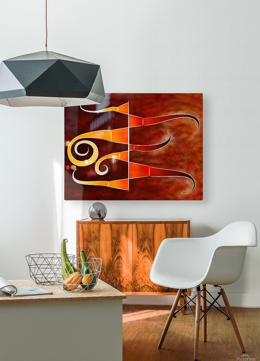 Cassanita sol - martian bird  HD Metal print with Floating Frame on Back