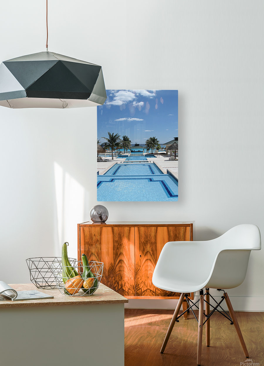 Infinity Pool  HD Metal print with Floating Frame on Back