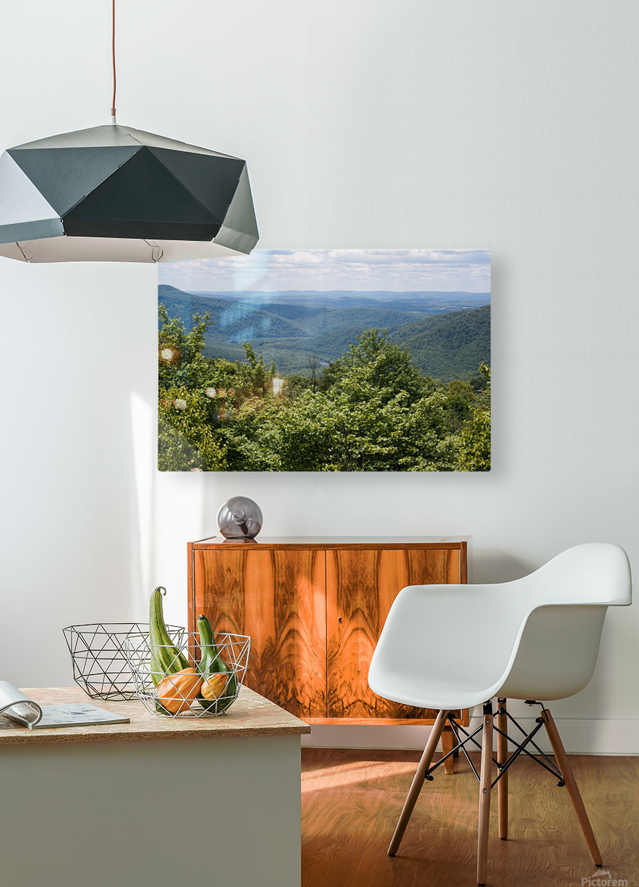 River Valley  HD Metal print with Floating Frame on Back