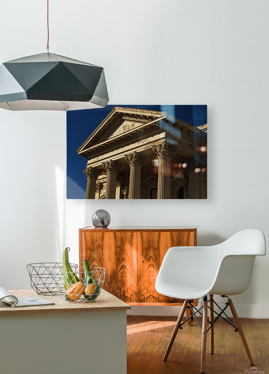 Old Building with Corinthian Pillars and Blue Sky  HD Metal print with Floating Frame on Back