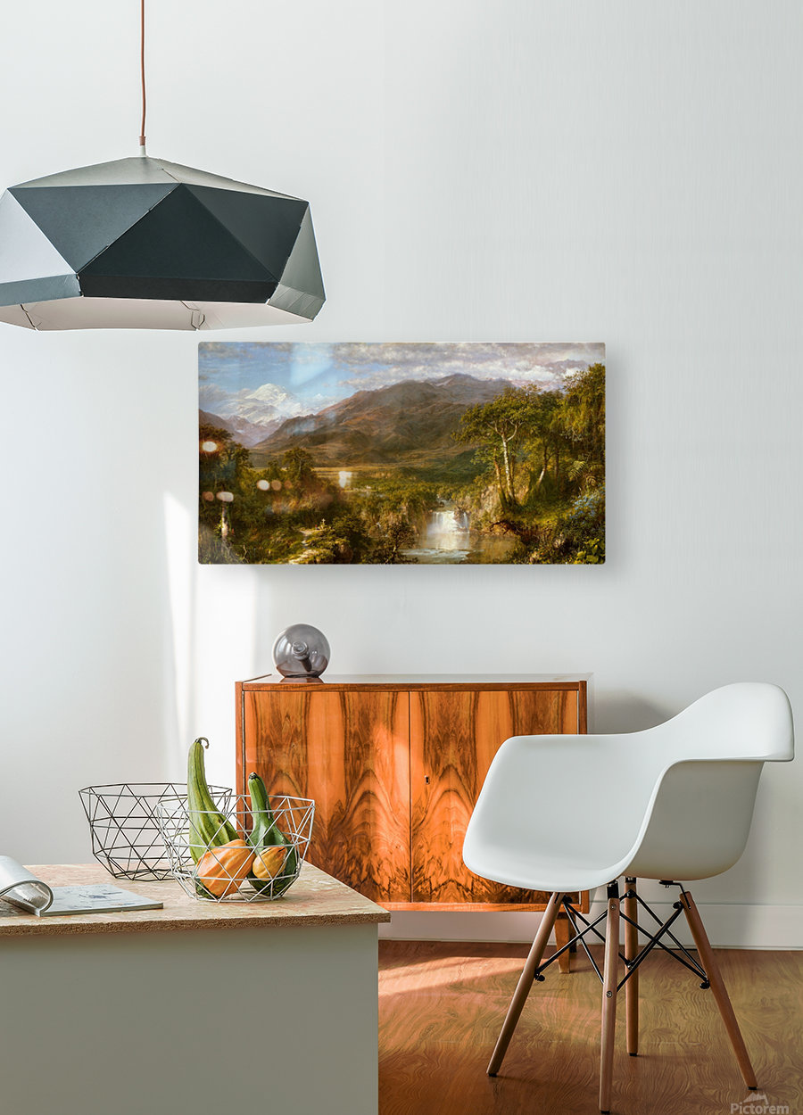 The Heart of the Andes  HD Metal print with Floating Frame on Back