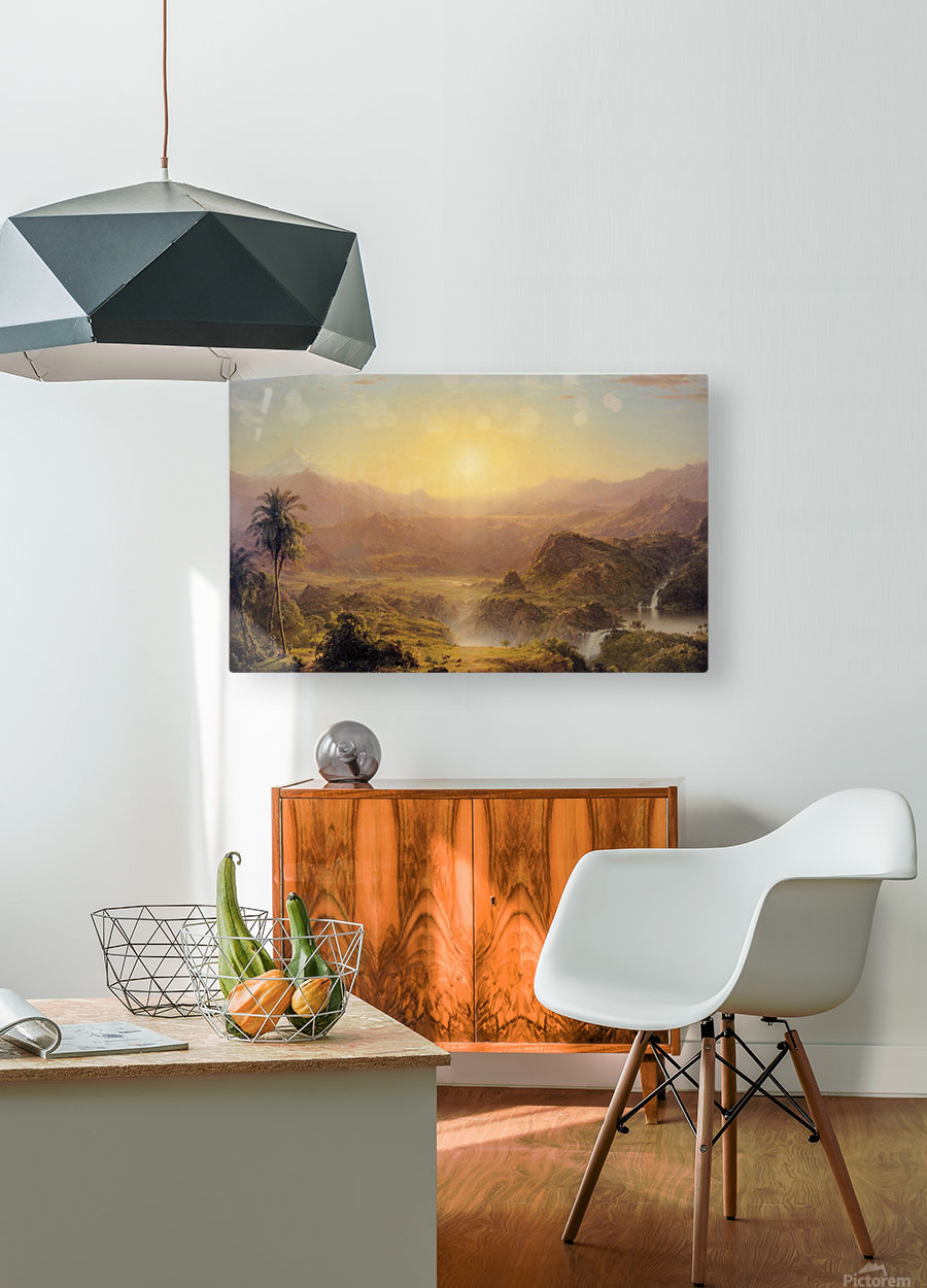 The Andes of Ecuador  HD Metal print with Floating Frame on Back
