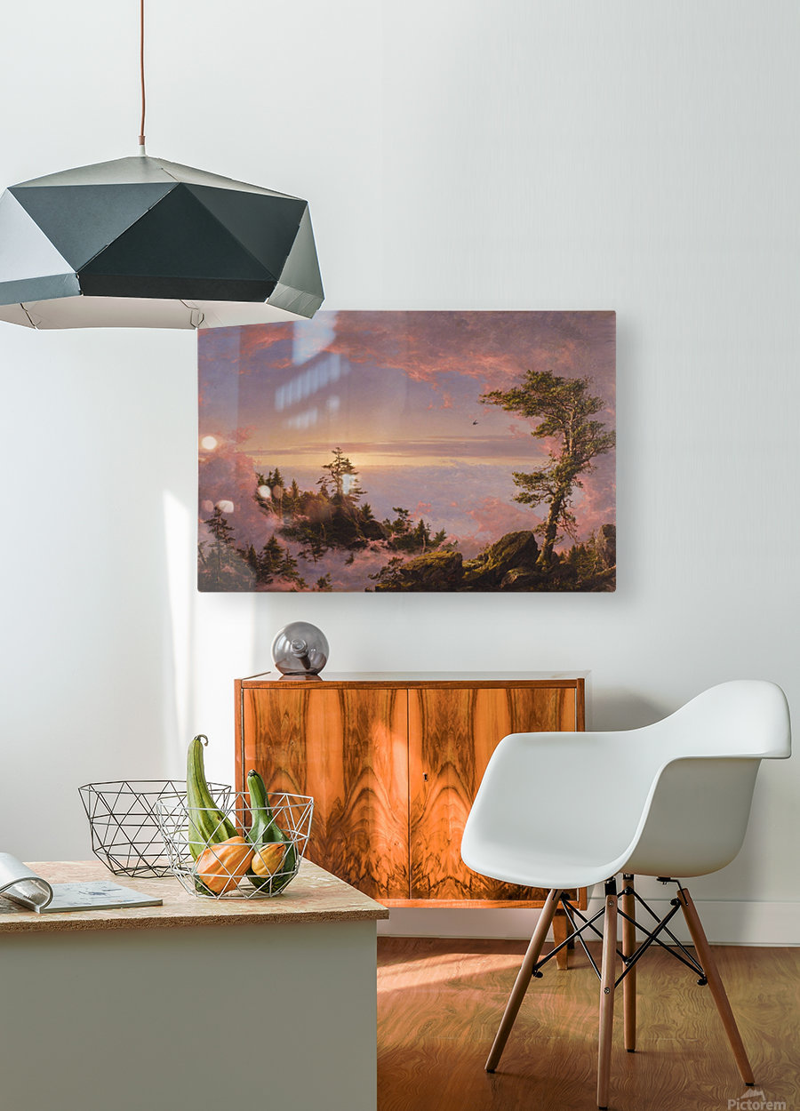 Church Above the Clouds  HD Metal print with Floating Frame on Back