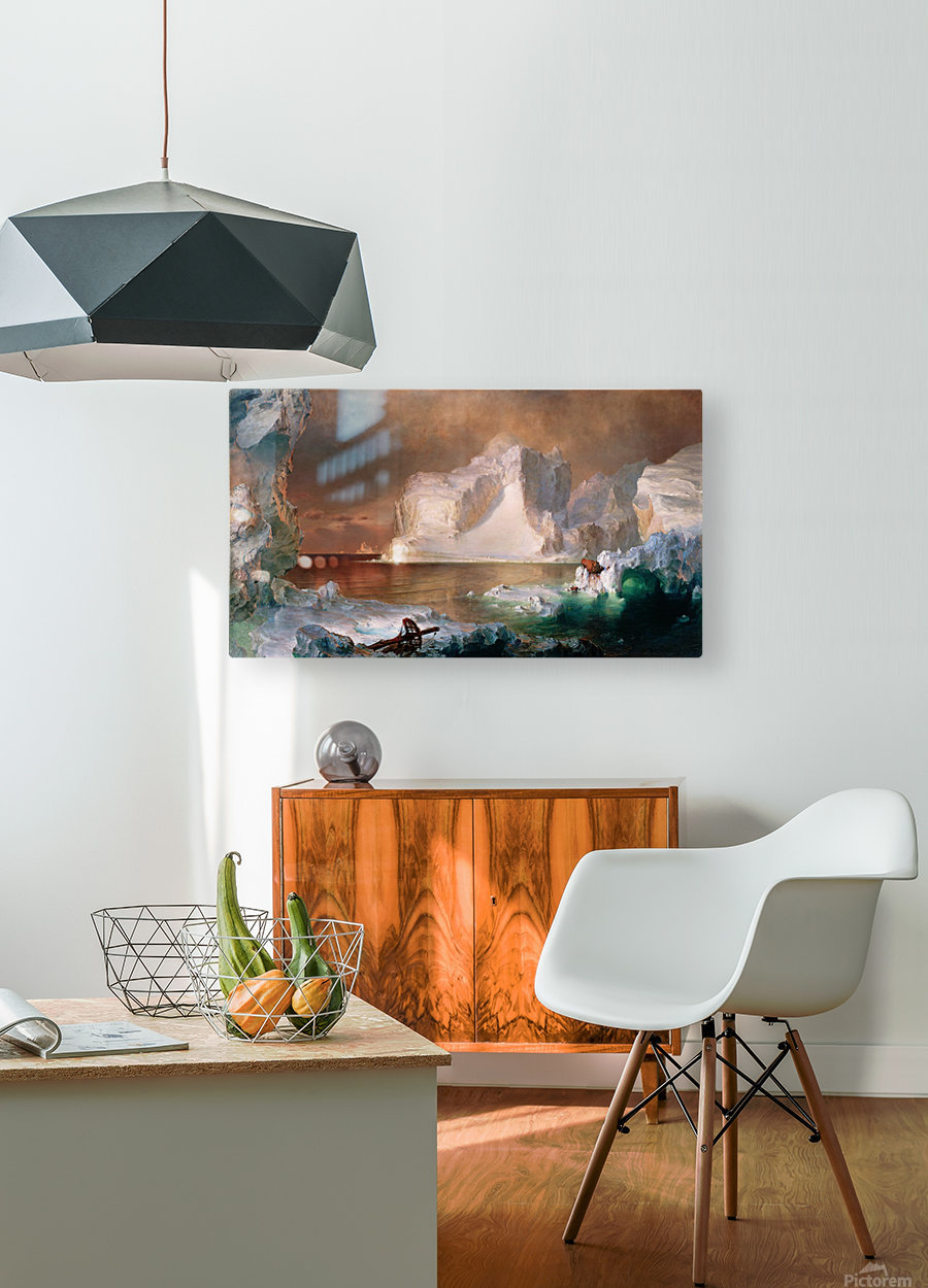 The Icebergs  HD Metal print with Floating Frame on Back