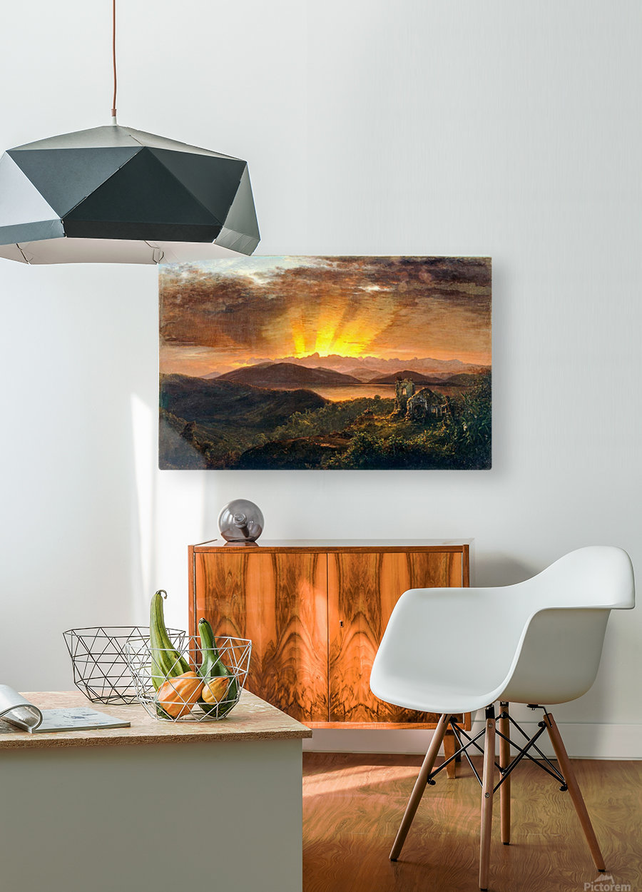 Sunrise on a valey  HD Metal print with Floating Frame on Back