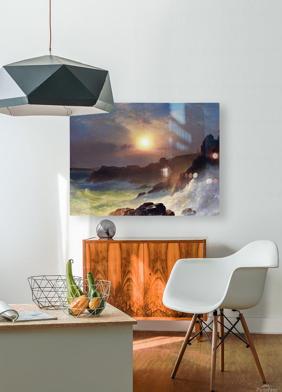 Hudson river school at Twilight  HD Metal print with Floating Frame on Back