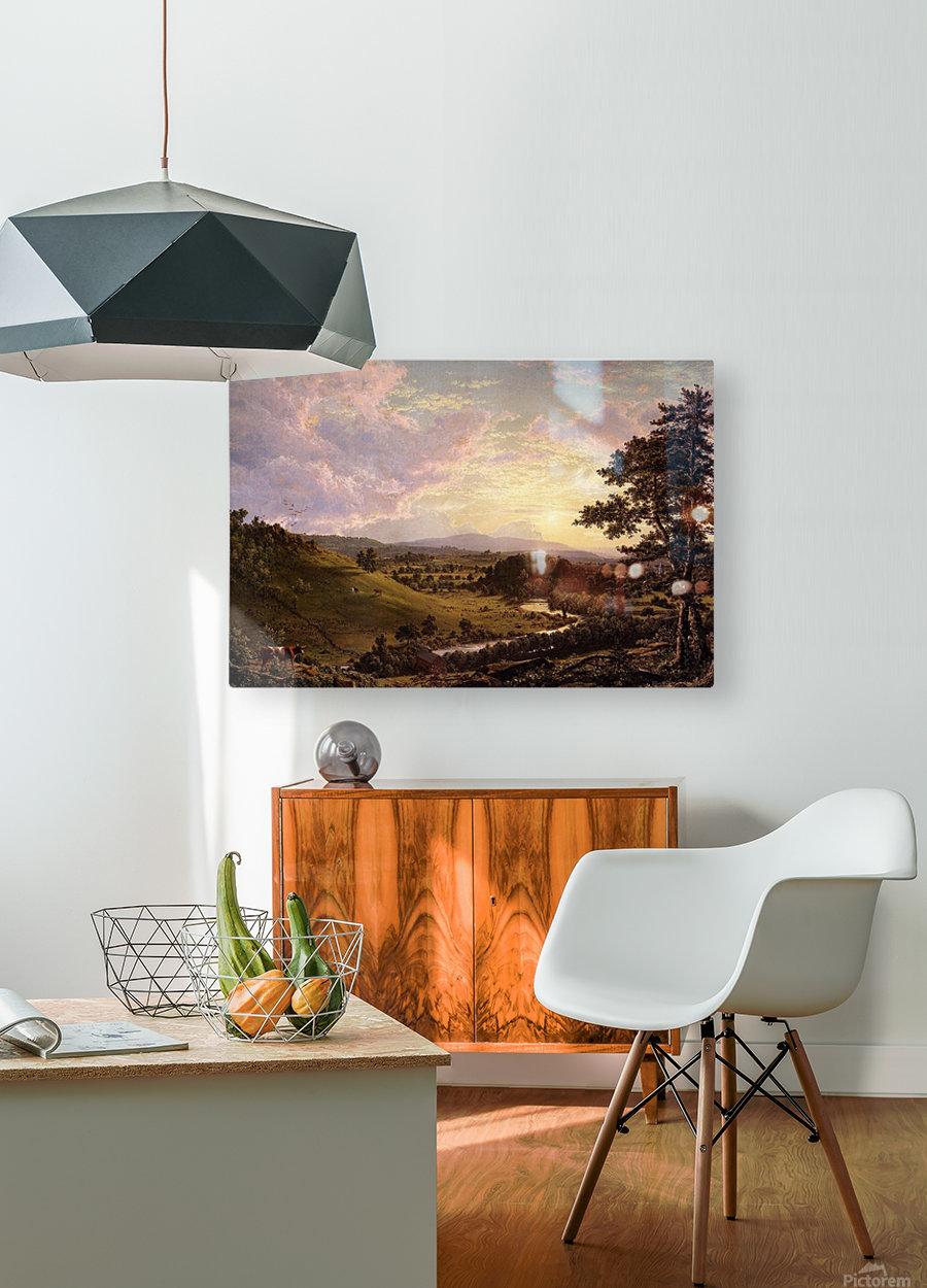 Stockbridge Mass 1847  HD Metal print with Floating Frame on Back