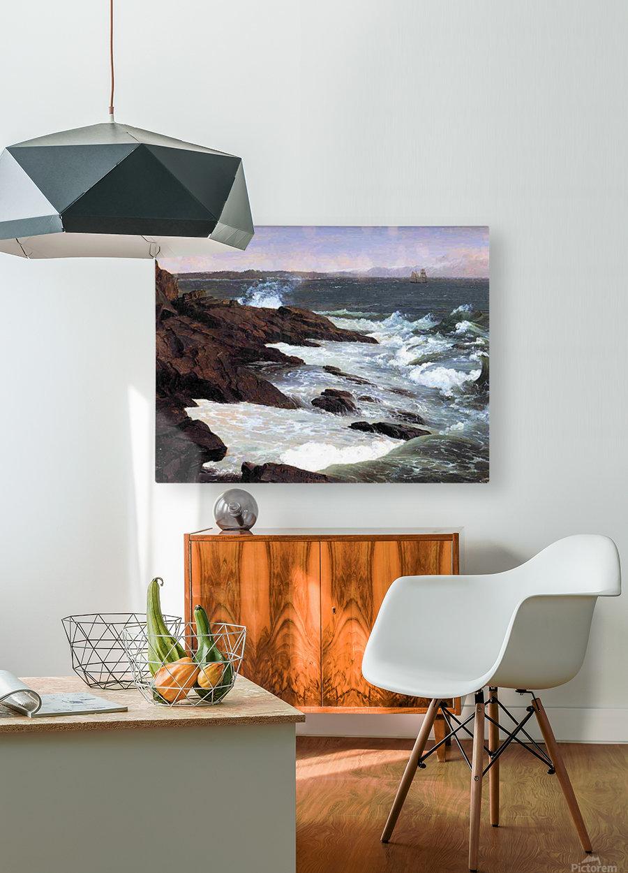 Fog off Mount Desert 1850  HD Metal print with Floating Frame on Back