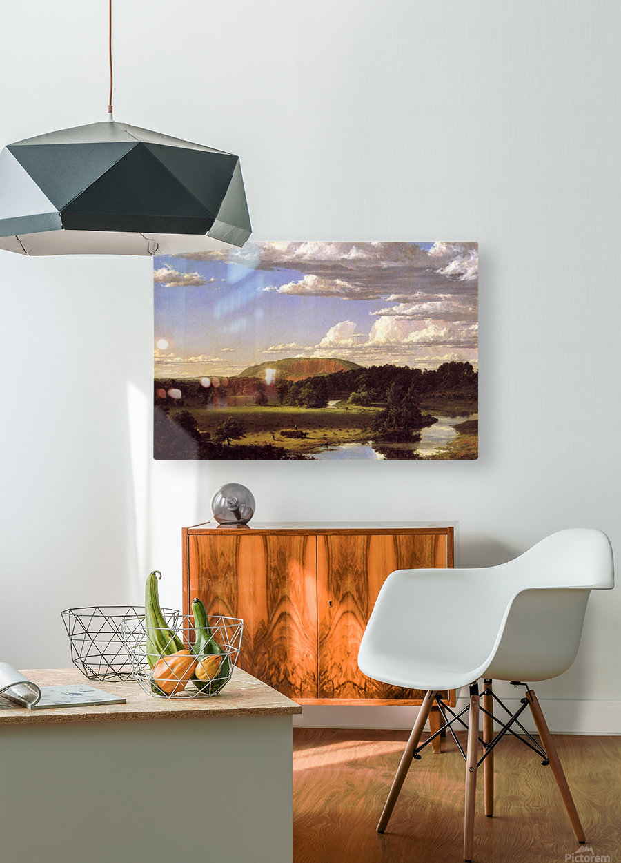 West Rock New Haven 1849  HD Metal print with Floating Frame on Back
