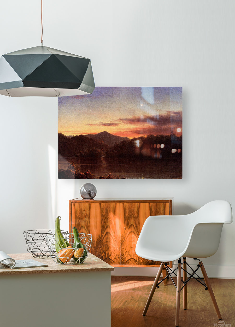 The Evening Star 1859  HD Metal print with Floating Frame on Back