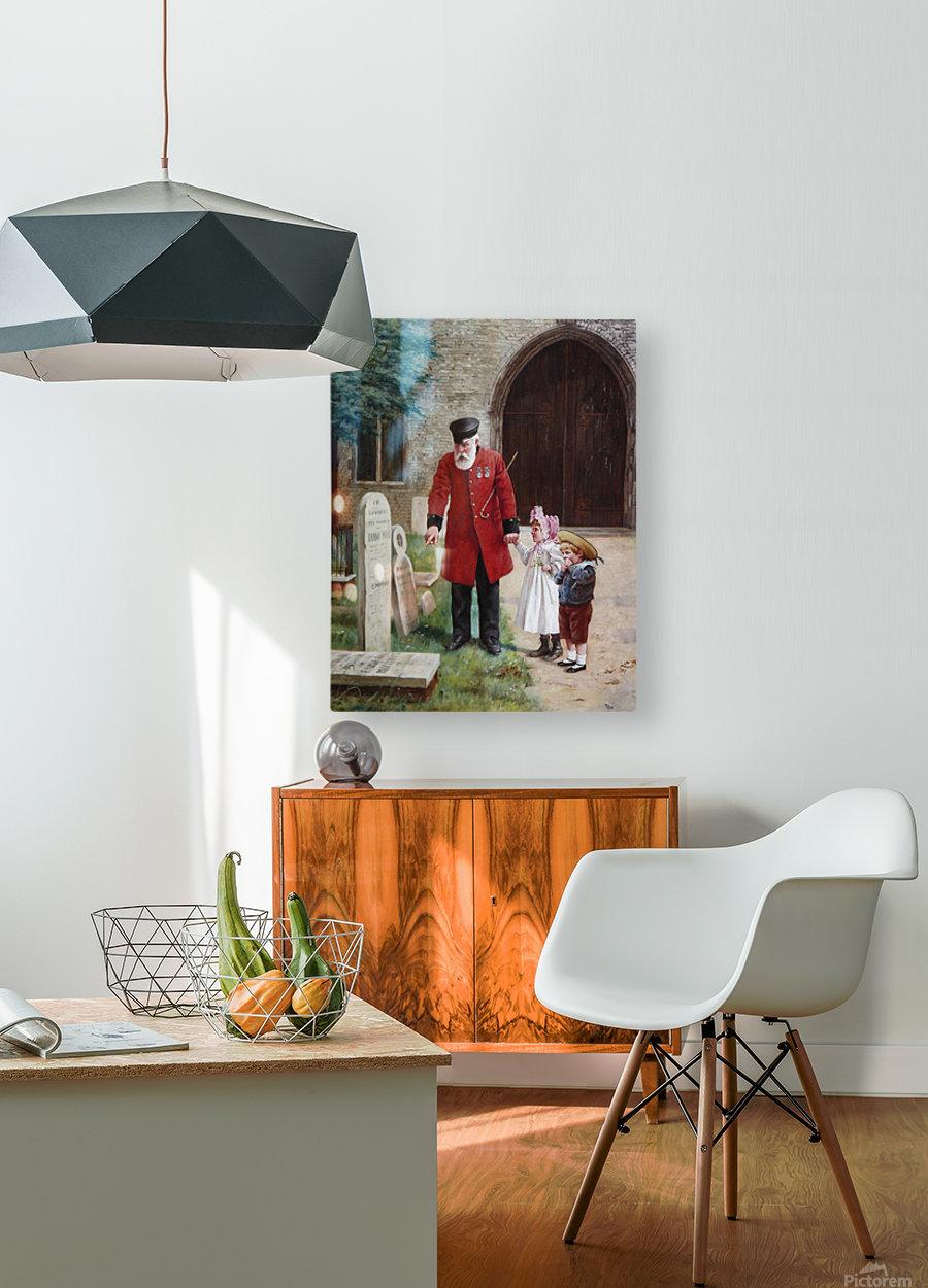 A walk with Grandpa  Impression métal HD avec cadre flottant sur le dos