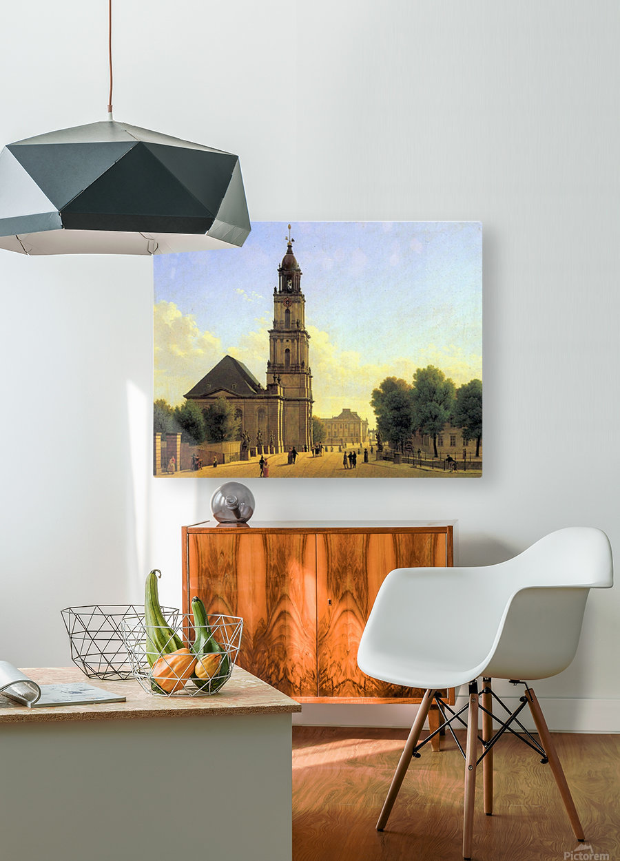 Garnisonkirche Potsdam 1827  HD Metal print with Floating Frame on Back
