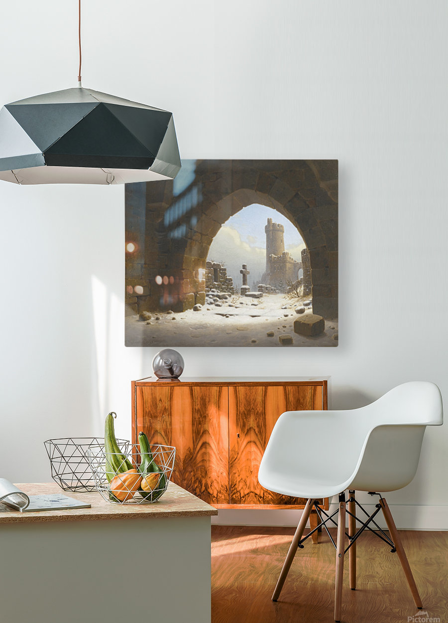 Ruins on the edge of the city  HD Metal print with Floating Frame on Back