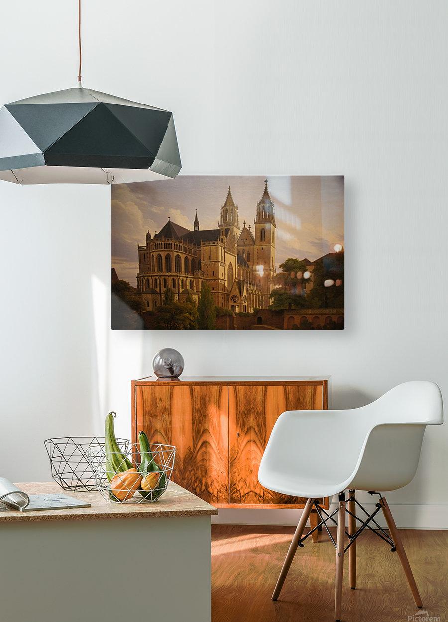 Magdeburger Dom 1828  HD Metal print with Floating Frame on Back