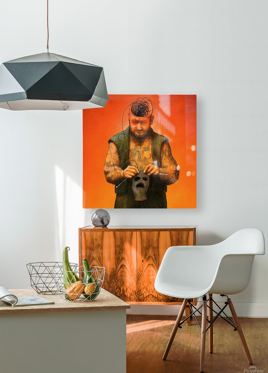 Black Mind  HD Metal print with Floating Frame on Back