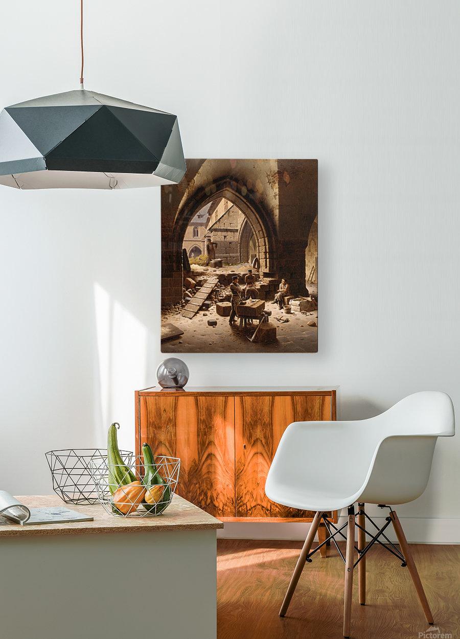 Partie des Kreuzgange der Liebfrauenkirche  HD Metal print with Floating Frame on Back