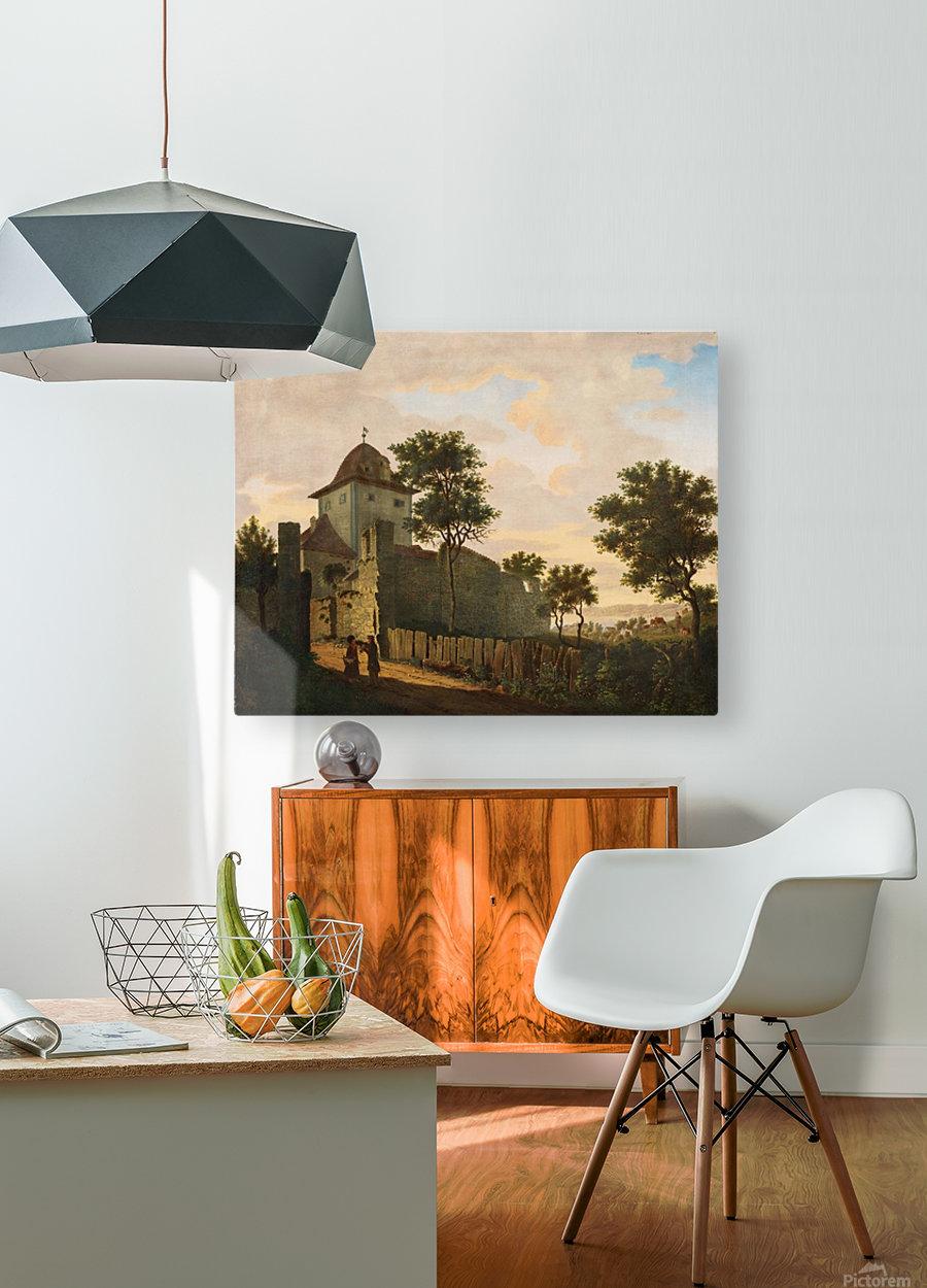 Stadtturm in Uberlingen  HD Metal print with Floating Frame on Back
