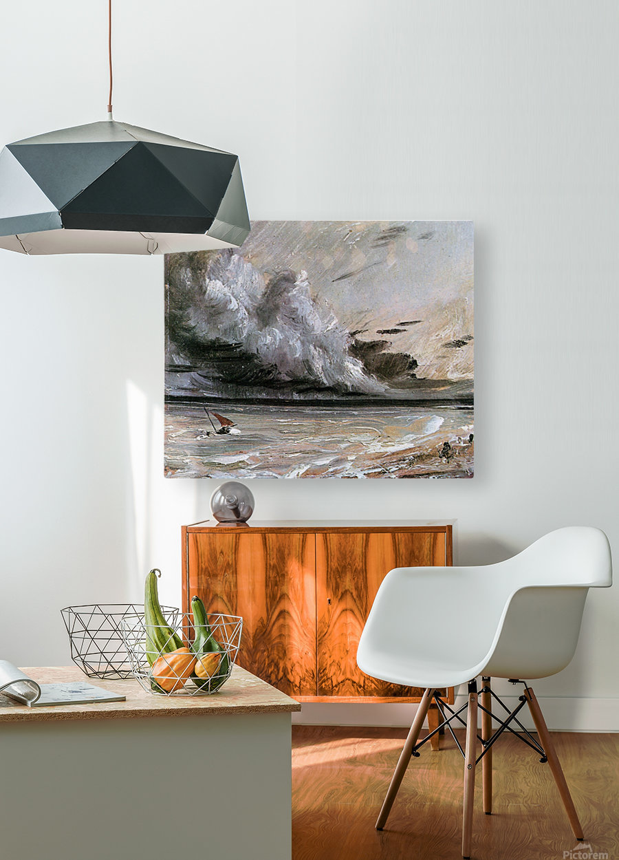 Breaking cloud sun  HD Metal print with Floating Frame on Back