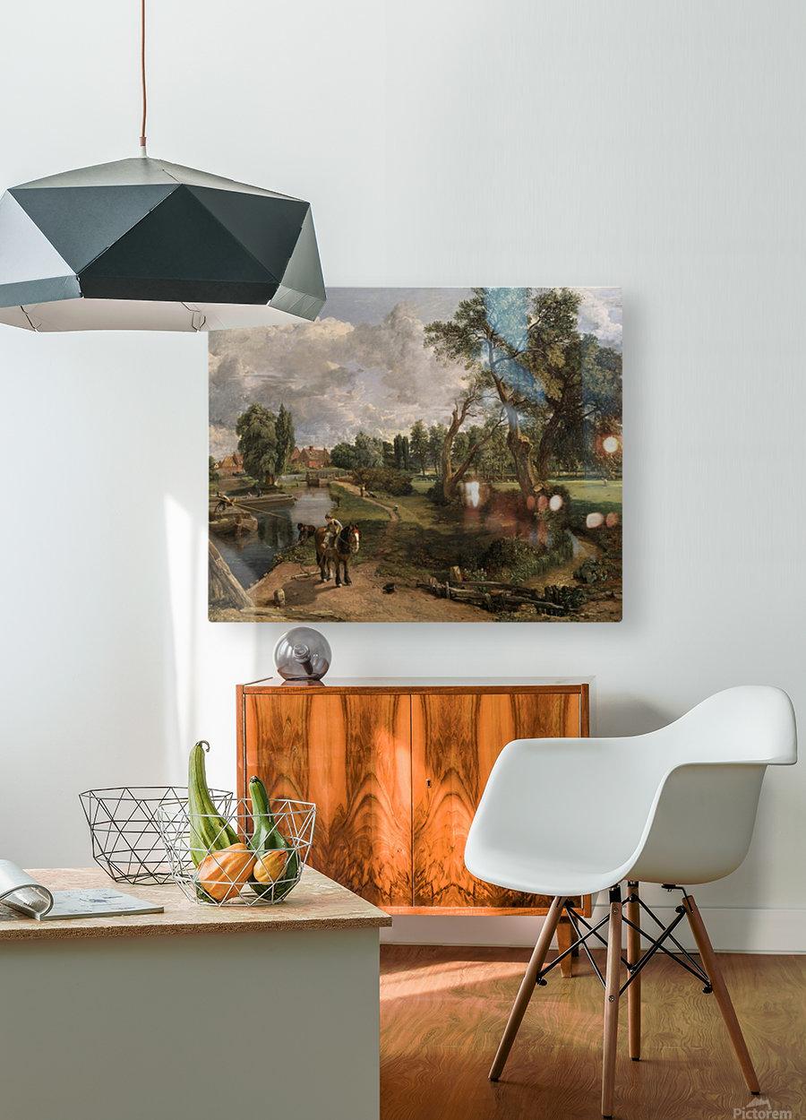 Scene on a Navigable River  HD Metal print with Floating Frame on Back