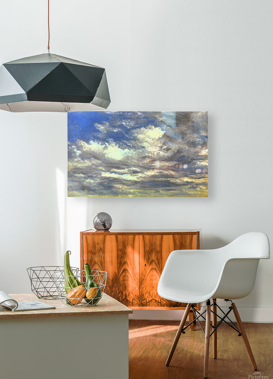 Cloud Study  HD Metal print with Floating Frame on Back