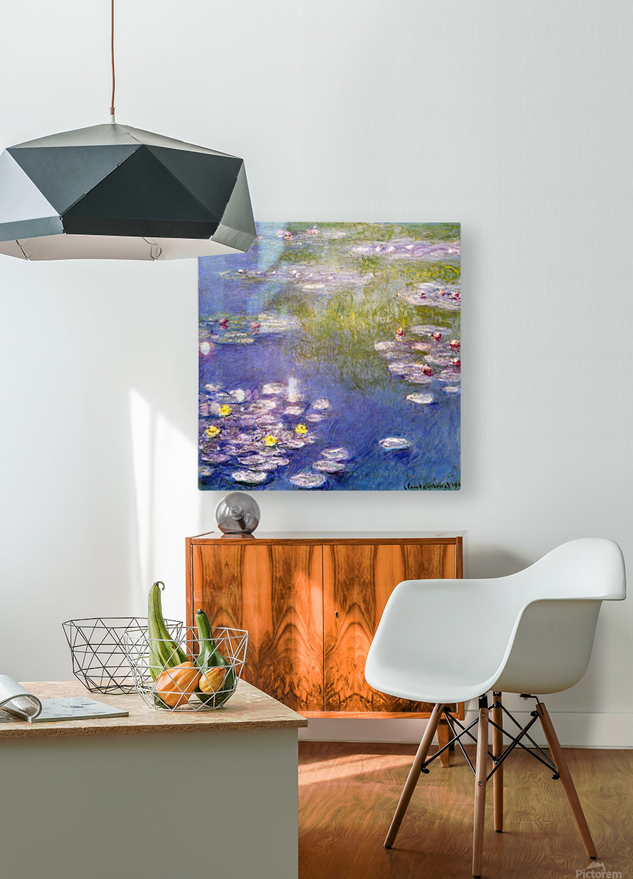 Nympheas at Giverny  HD Metal print with Floating Frame on Back