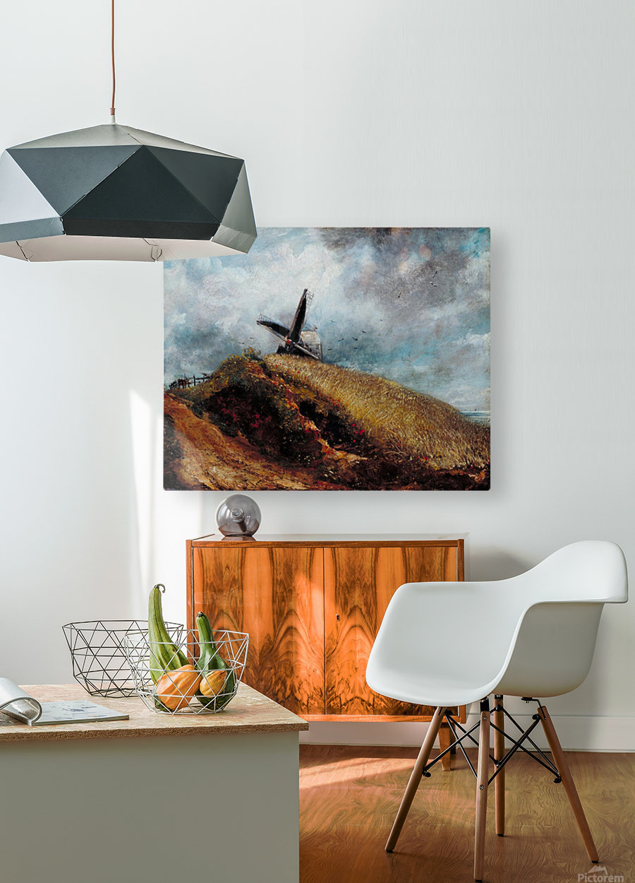 A Windmill near Brighton  HD Metal print with Floating Frame on Back