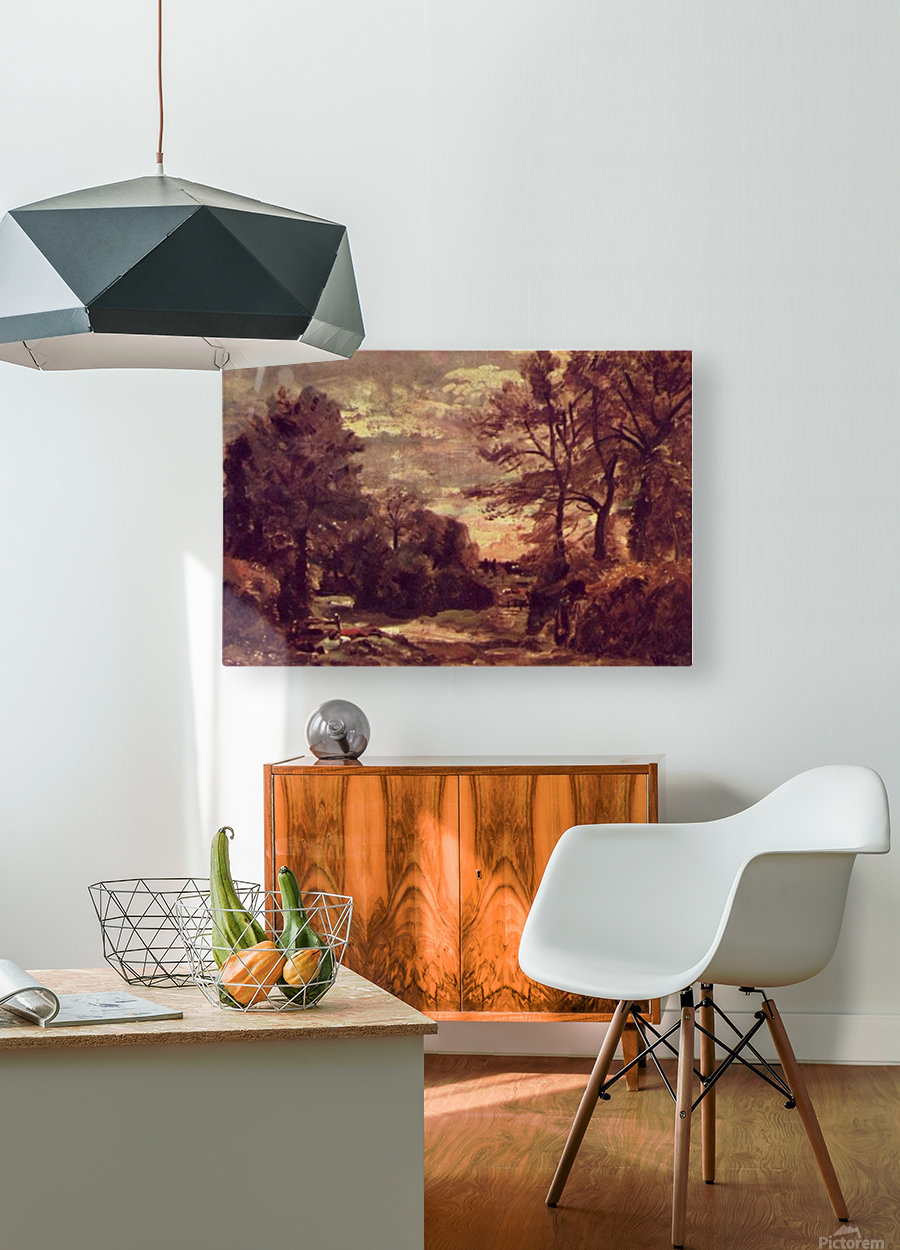 Country Road 1926  HD Metal print with Floating Frame on Back