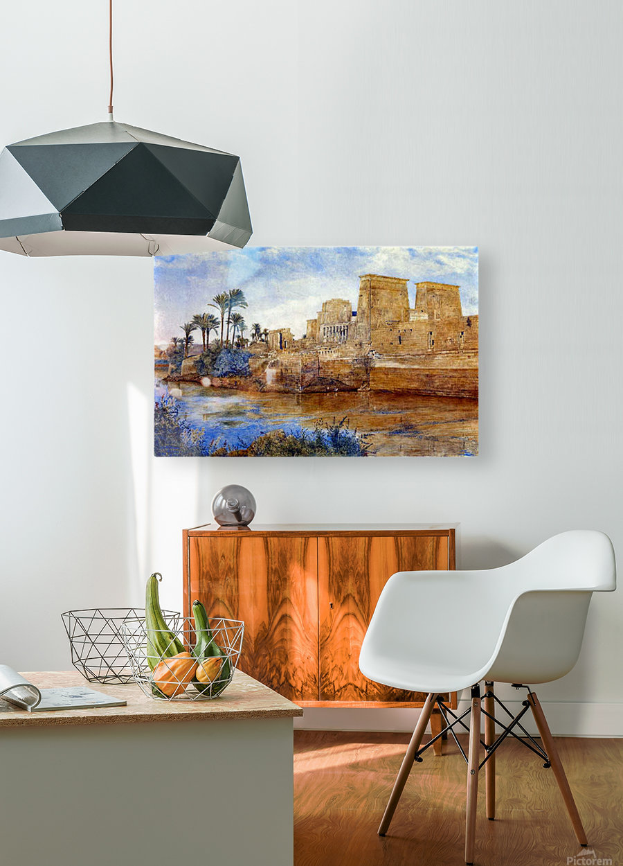 Philae from the Island of Biggeh, 1894  HD Metal print with Floating Frame on Back