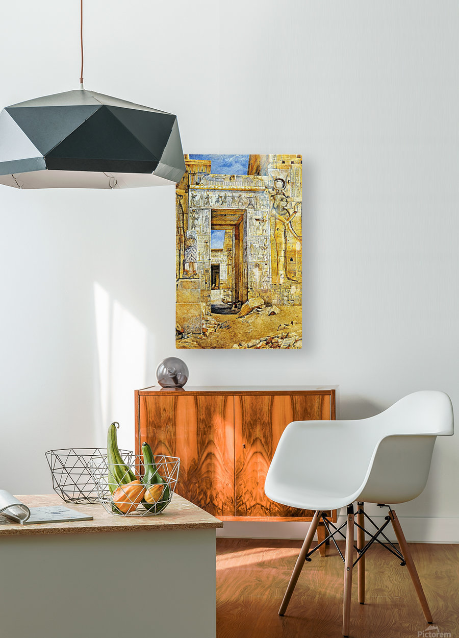 An Egiptian gate  HD Metal print with Floating Frame on Back