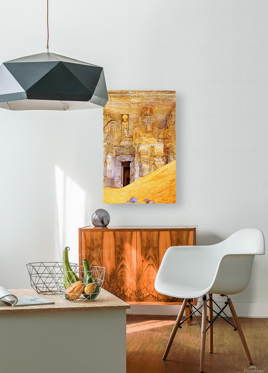 Abu Simbel  HD Metal print with Floating Frame on Back