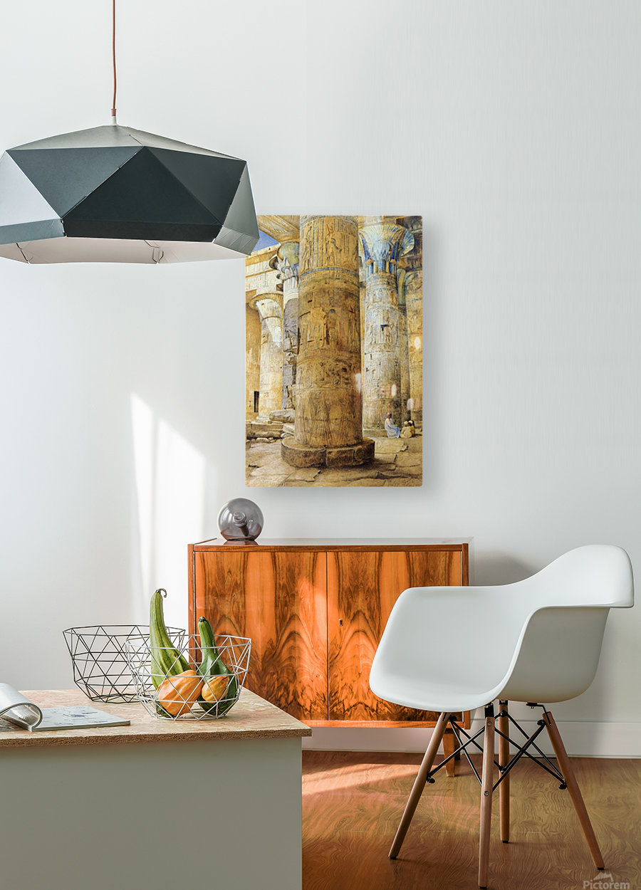 Interior of a temple  HD Metal print with Floating Frame on Back