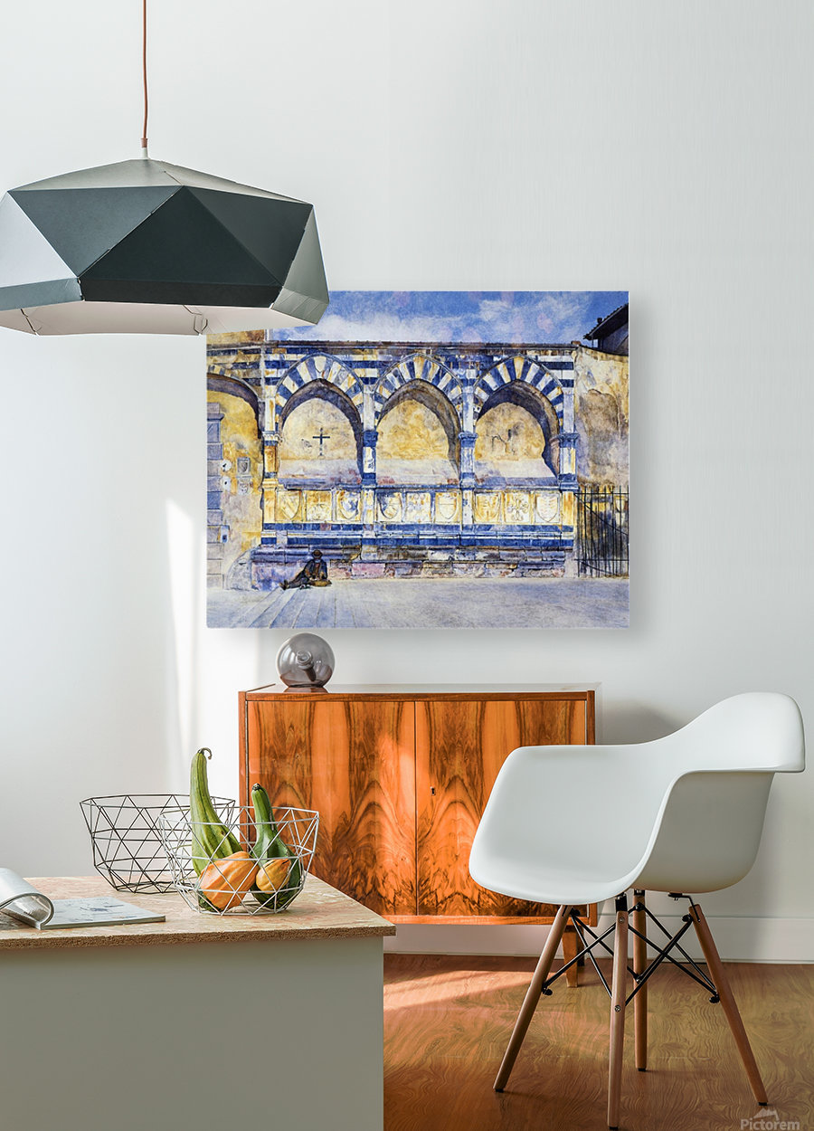 The Three Arches of Santa Maria Novella  HD Metal print with Floating Frame on Back