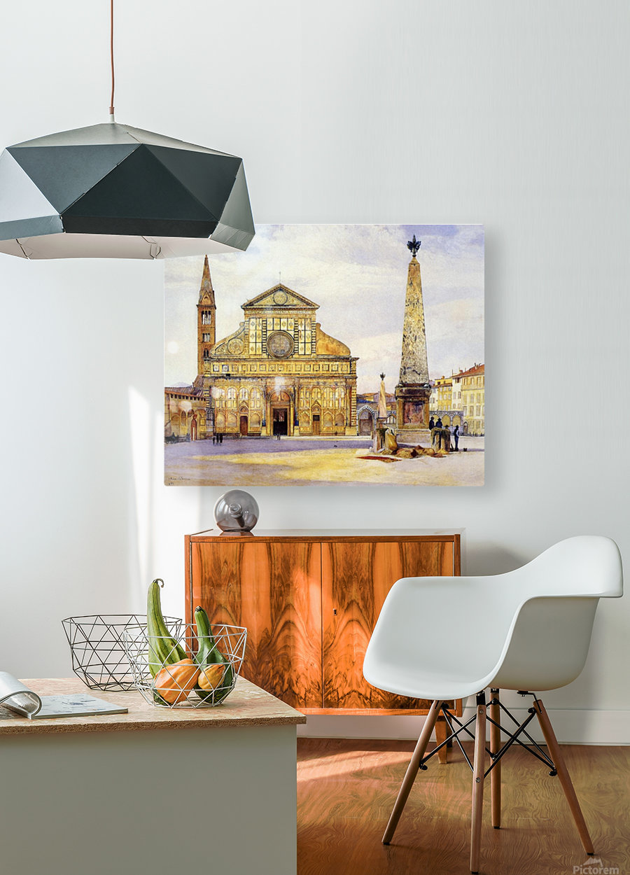 The main square  HD Metal print with Floating Frame on Back