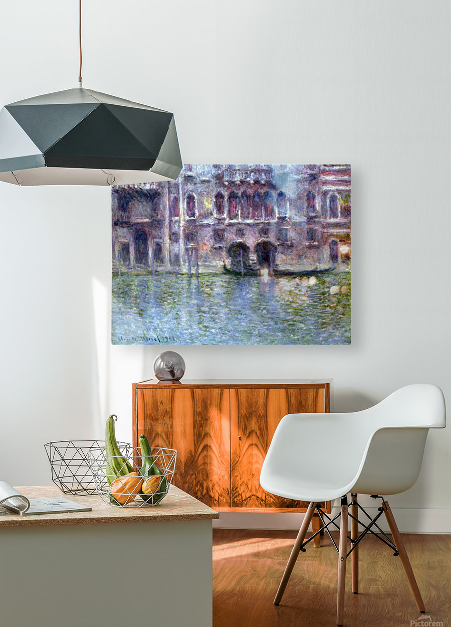 Palazzo da Mula, Venice by Monet  HD Metal print with Floating Frame on Back