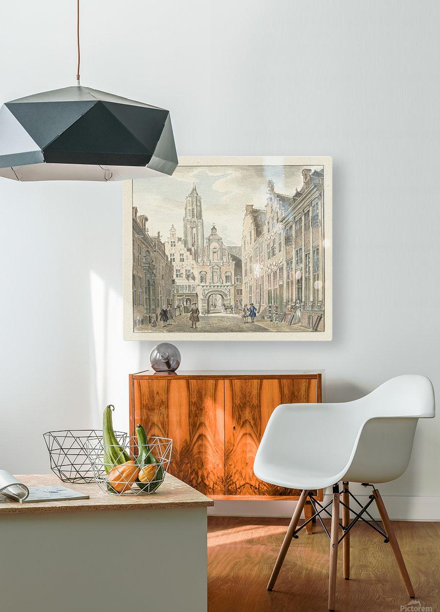 Nieuwstraat door  HD Metal print with Floating Frame on Back