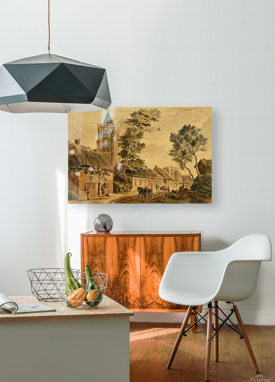 View of Sambeek  HD Metal print with Floating Frame on Back