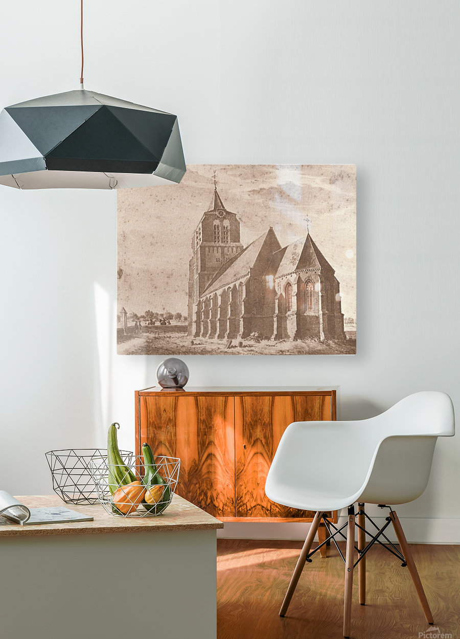 Kerk volgens  HD Metal print with Floating Frame on Back