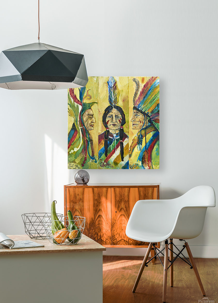 tribe  HD Metal print with Floating Frame on Back