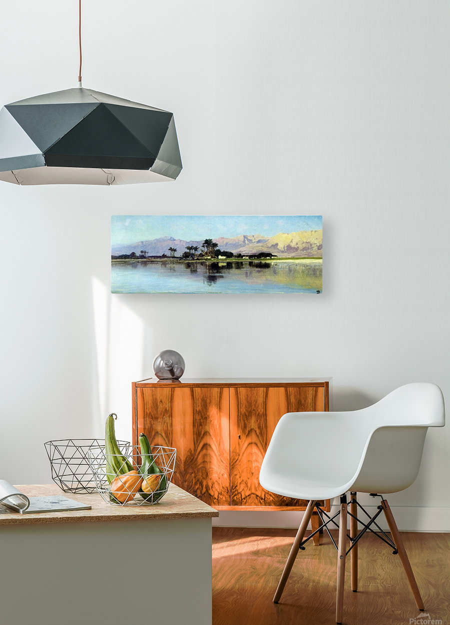 A distant island  HD Metal print with Floating Frame on Back
