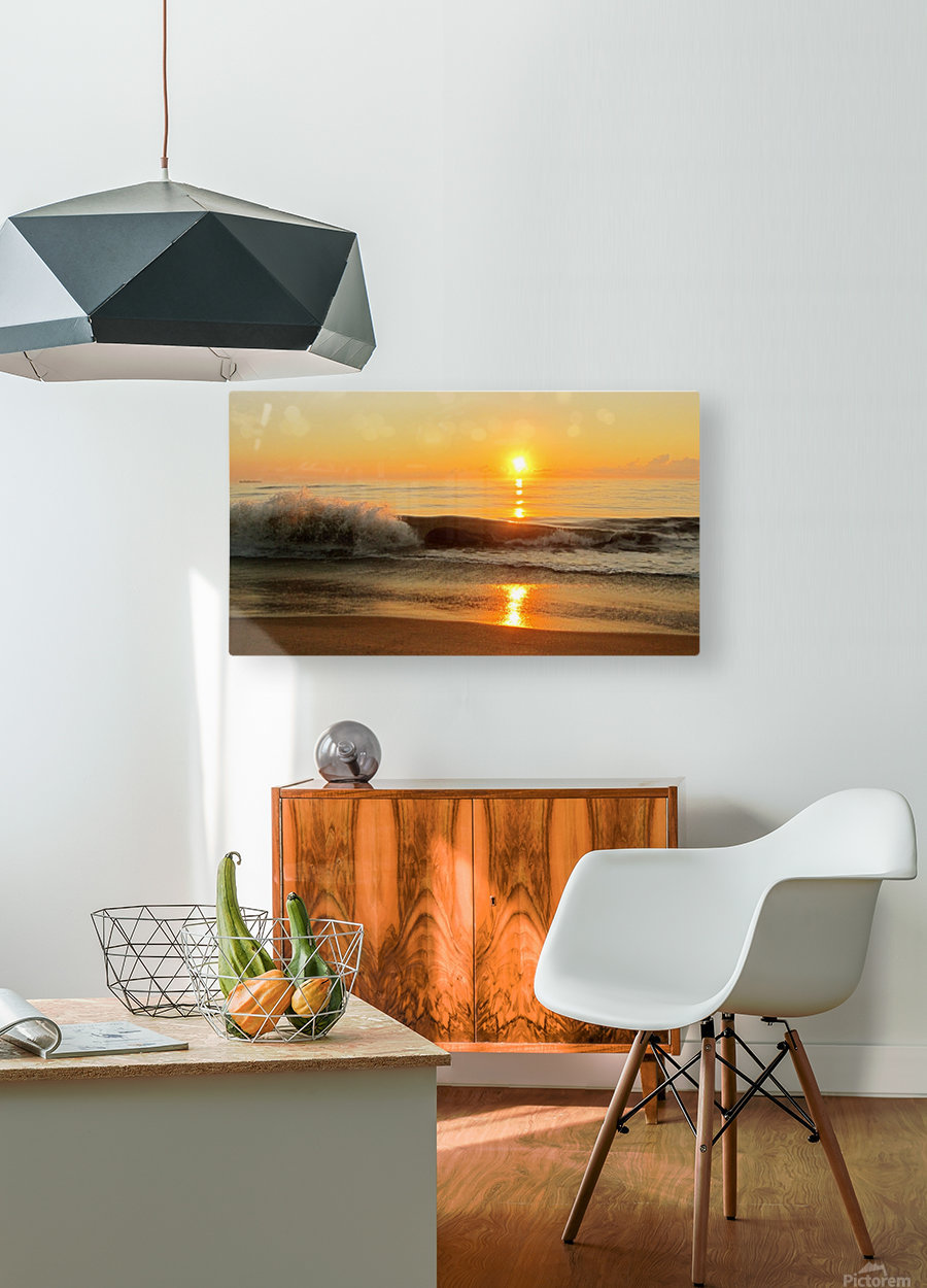 Ocean Rising  HD Metal print with Floating Frame on Back