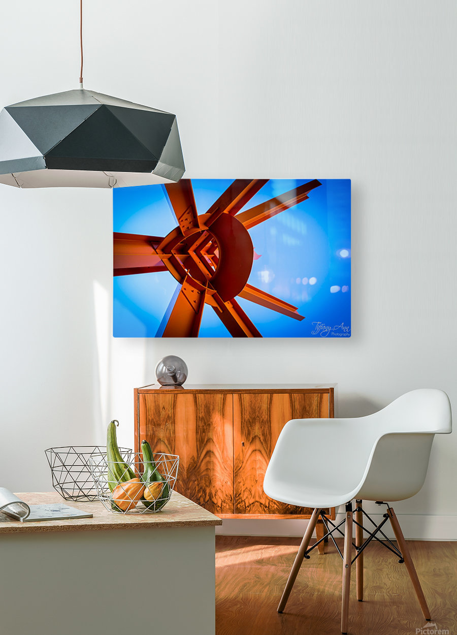 Abstract IV  HD Metal print with Floating Frame on Back