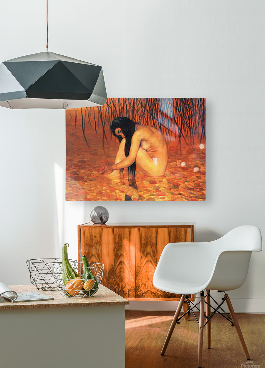 Bathing by Felix Vallotton  HD Metal print with Floating Frame on Back
