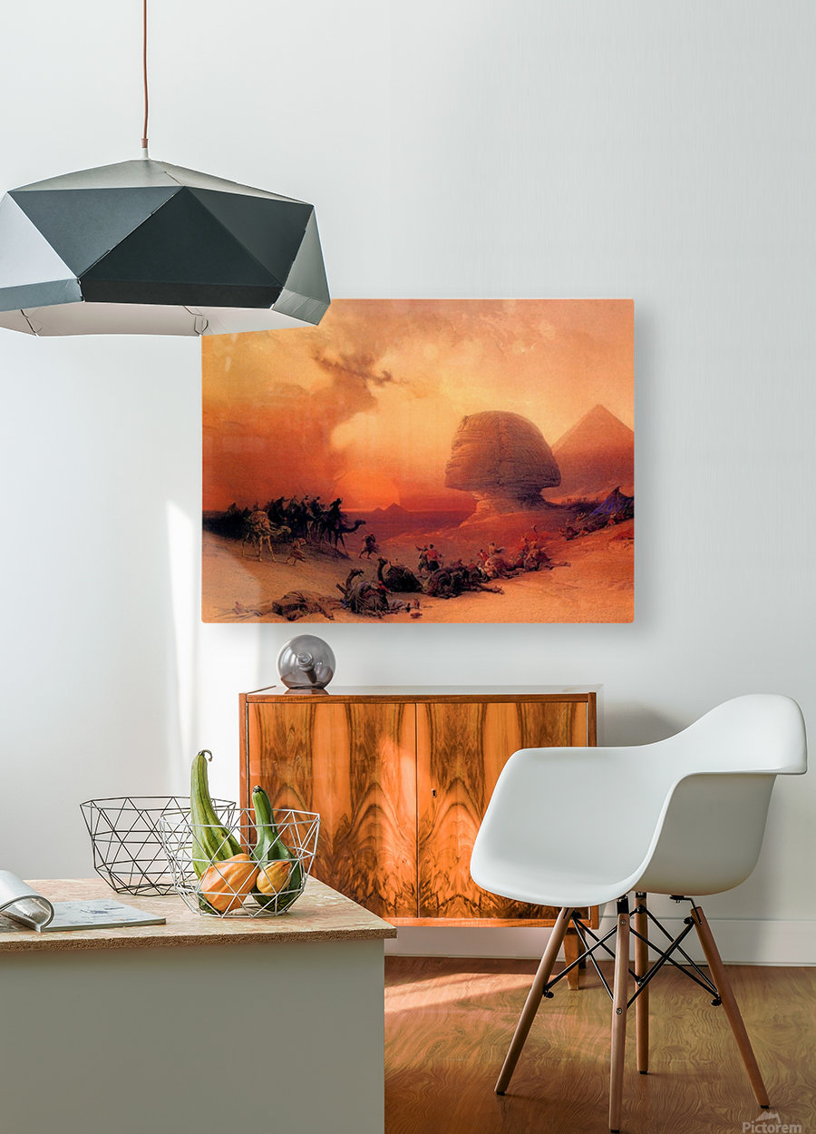 The Sphinx at Giza  HD Metal print with Floating Frame on Back