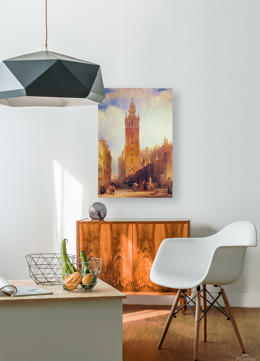 The Moorish Tower at Seville, called the Giralda  HD Metal print with Floating Frame on Back