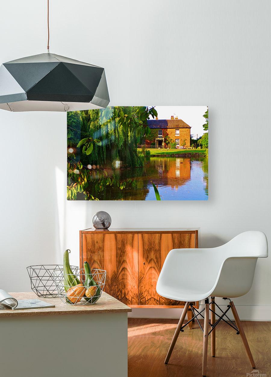 Fish pond Seckington  HD Metal print with Floating Frame on Back