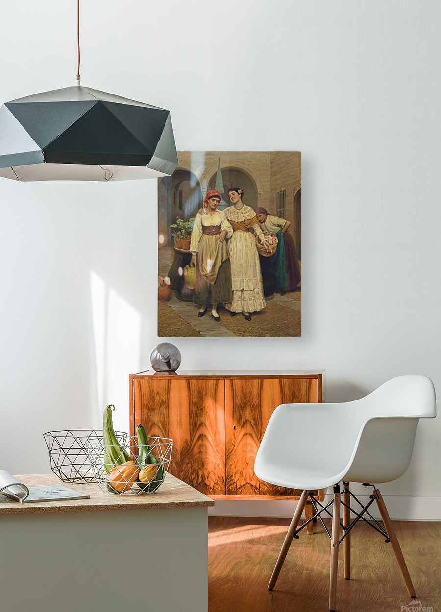A friendly advice  HD Metal print with Floating Frame on Back