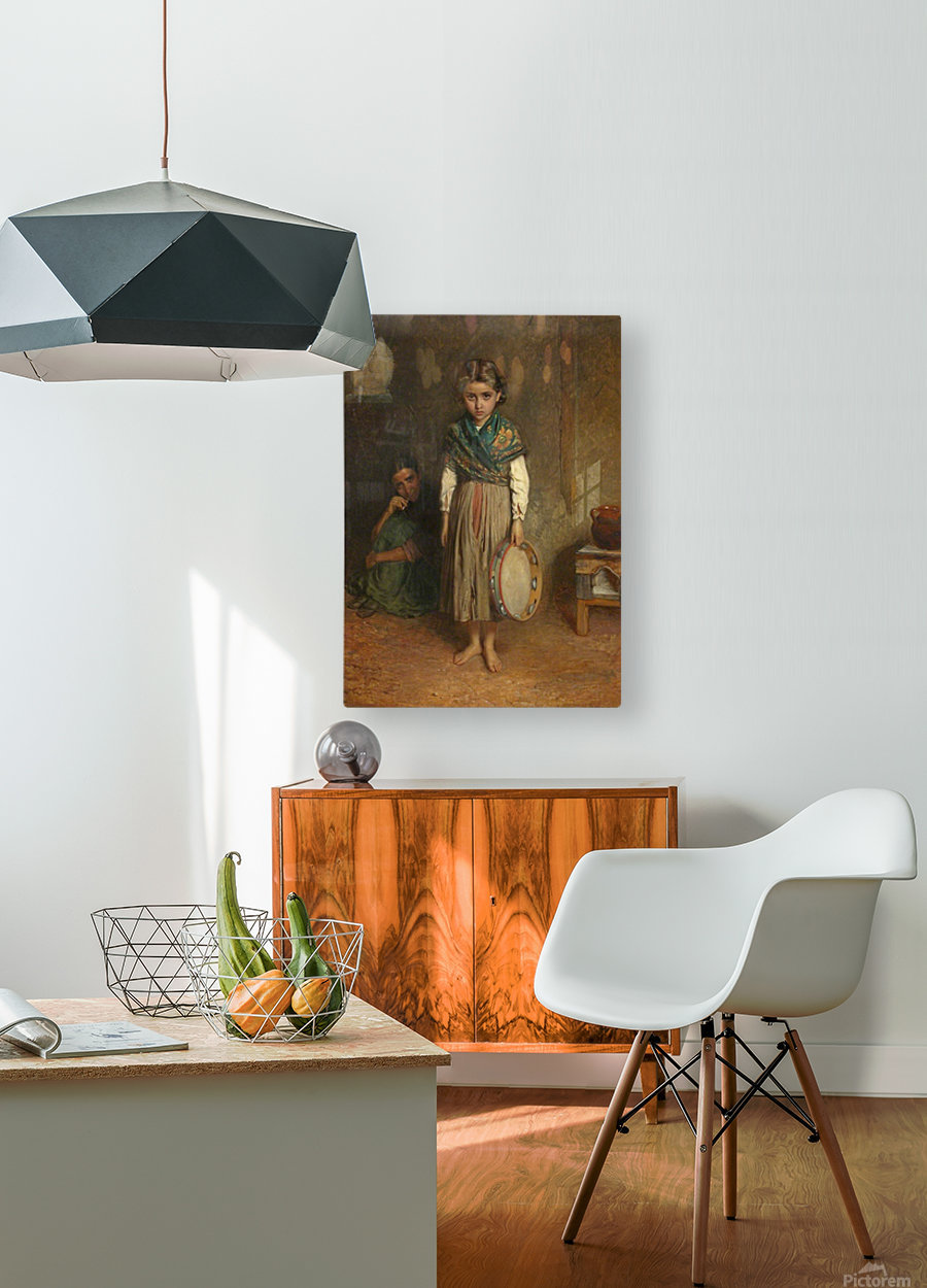 A Little Spanish Gipsy  HD Metal print with Floating Frame on Back