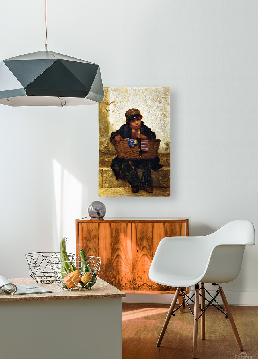 The Button Seller  HD Metal print with Floating Frame on Back