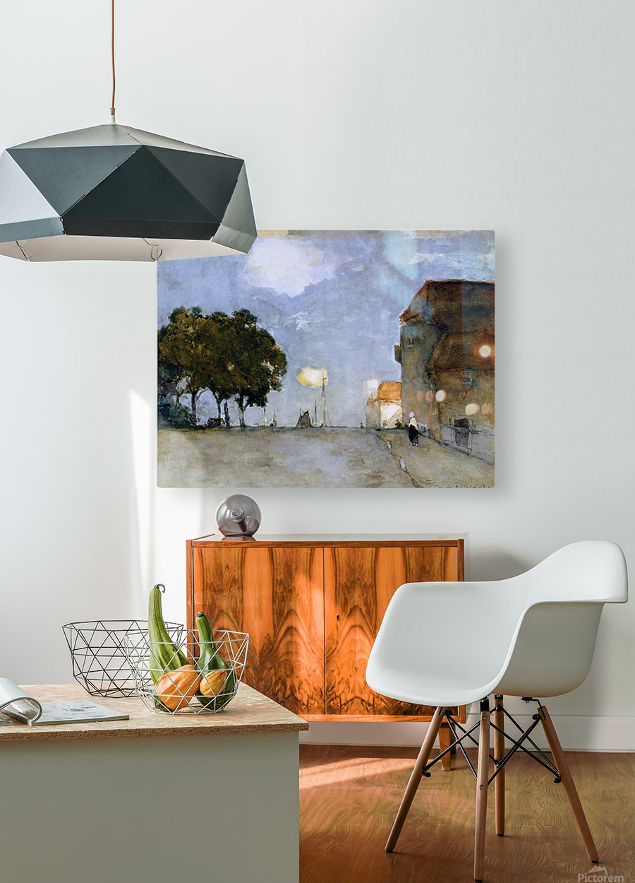 Ships in harbour  HD Metal print with Floating Frame on Back