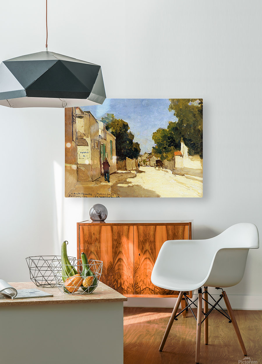 House of Millet at Barbizon  HD Metal print with Floating Frame on Back